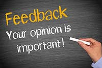 Feedback You Opinion is Important