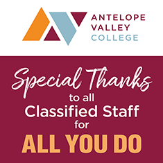 Special Thanks to All Classified Staff for All You Do