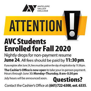 Attention AVC Students