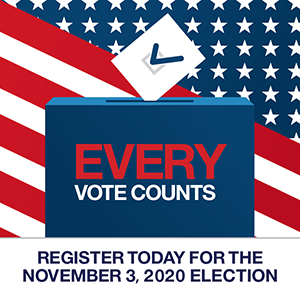 Register Today For The November3, 2020 Election