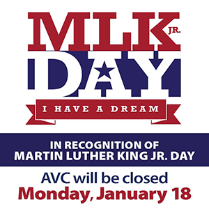 In observance of Martin Luther King Jr. Day, classes will not be in session Monday, January 18