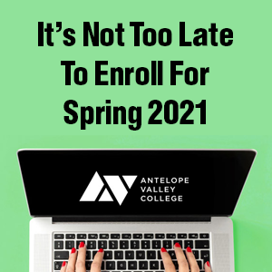 Its not too late to register for Spring 2021