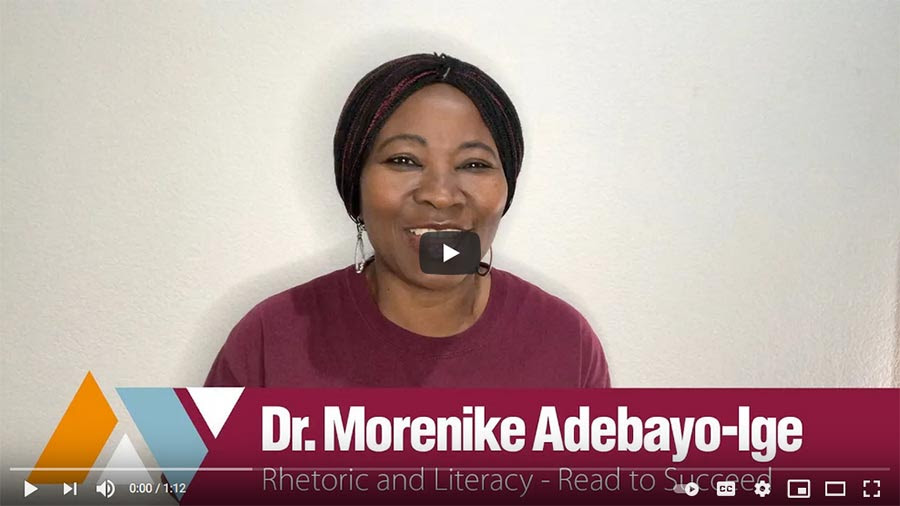 Faces of AVC - Dr. Morenike Adebayo-Ige from Read To Succeed