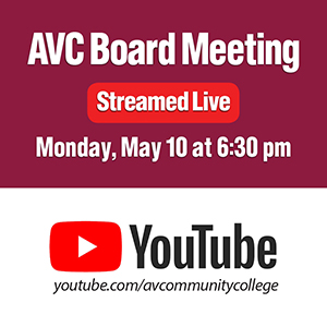 AVC Board Meeting Streamed Live on May 10, 2021 at 6:30 p.m.
