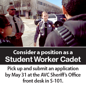 Consider a Position as a Student Worker Cadet - Apply By May 31