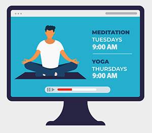 Need some relaxation this summer? Join us for Yoga or Meditation