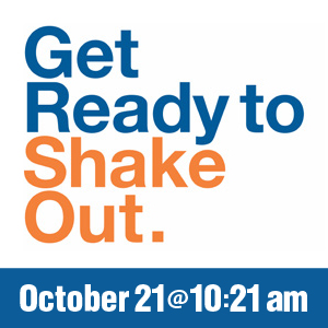 Get Ready To Shake Out On October 21 at 10:21 am
