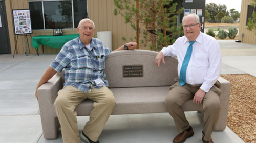 Jack Halliday and President Ed Knudson