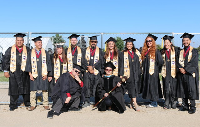 Photo of AVC graduation and students