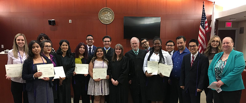 2018 law scholar graduation at Courthouse