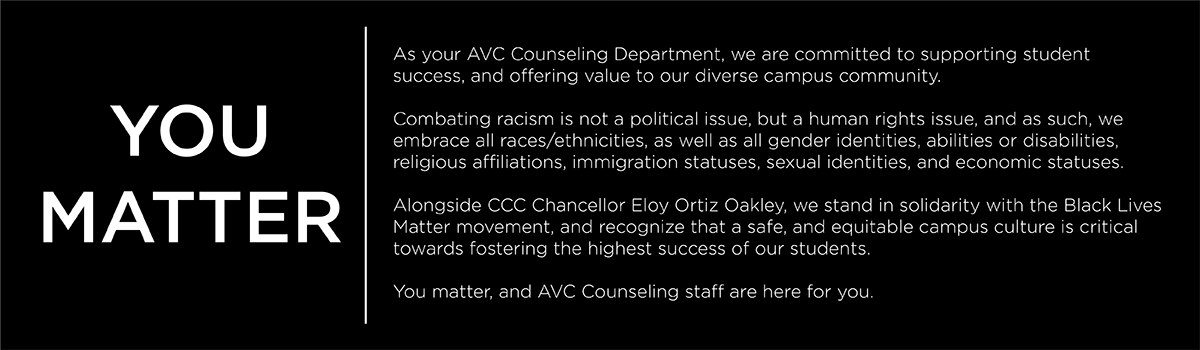 Counseling Statement of Solidarity with Black Lives Matter Movement