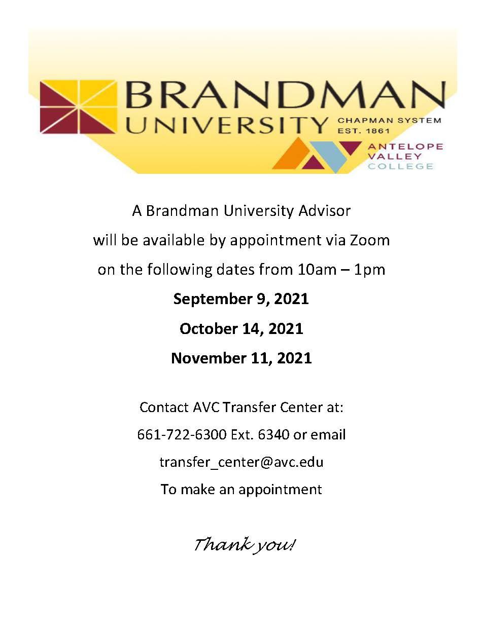 Brandman Rep visits Fall 2021