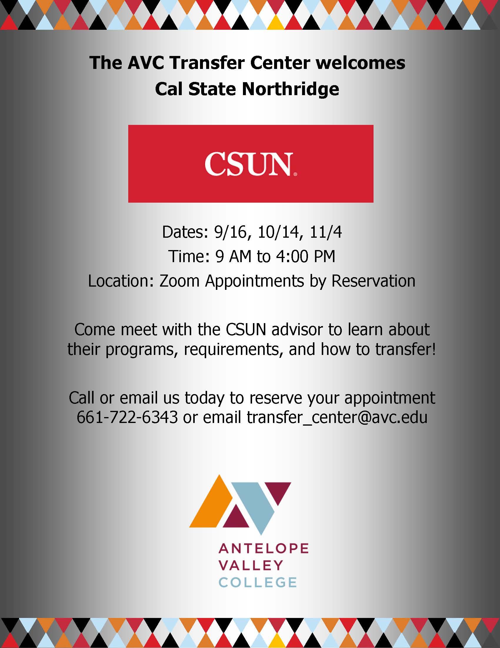 CSUN Rep Visits Fall 2021