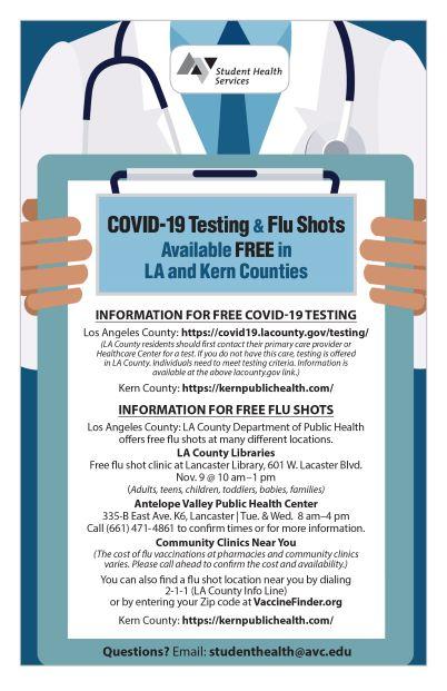 COVID-19 Testing & Flu Shot Clinic Flyer