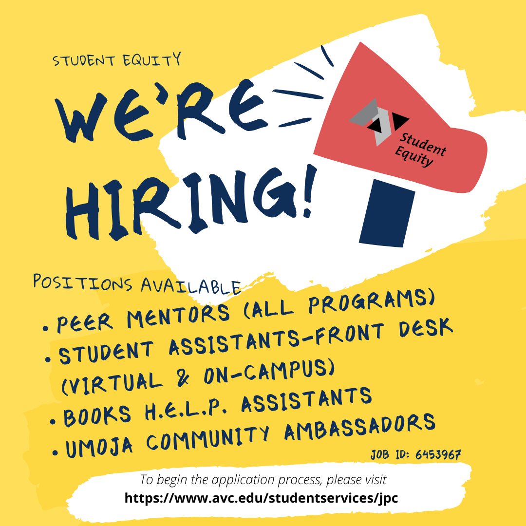 Student Equity Now Hiring