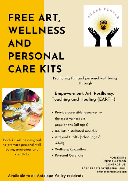 Free Art, Wellness Kits Flyer