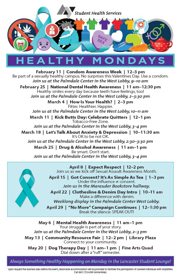 Health Events:  Healthy Monday SPRING 2019
