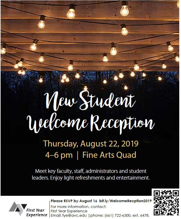 New Student Welcome Reception