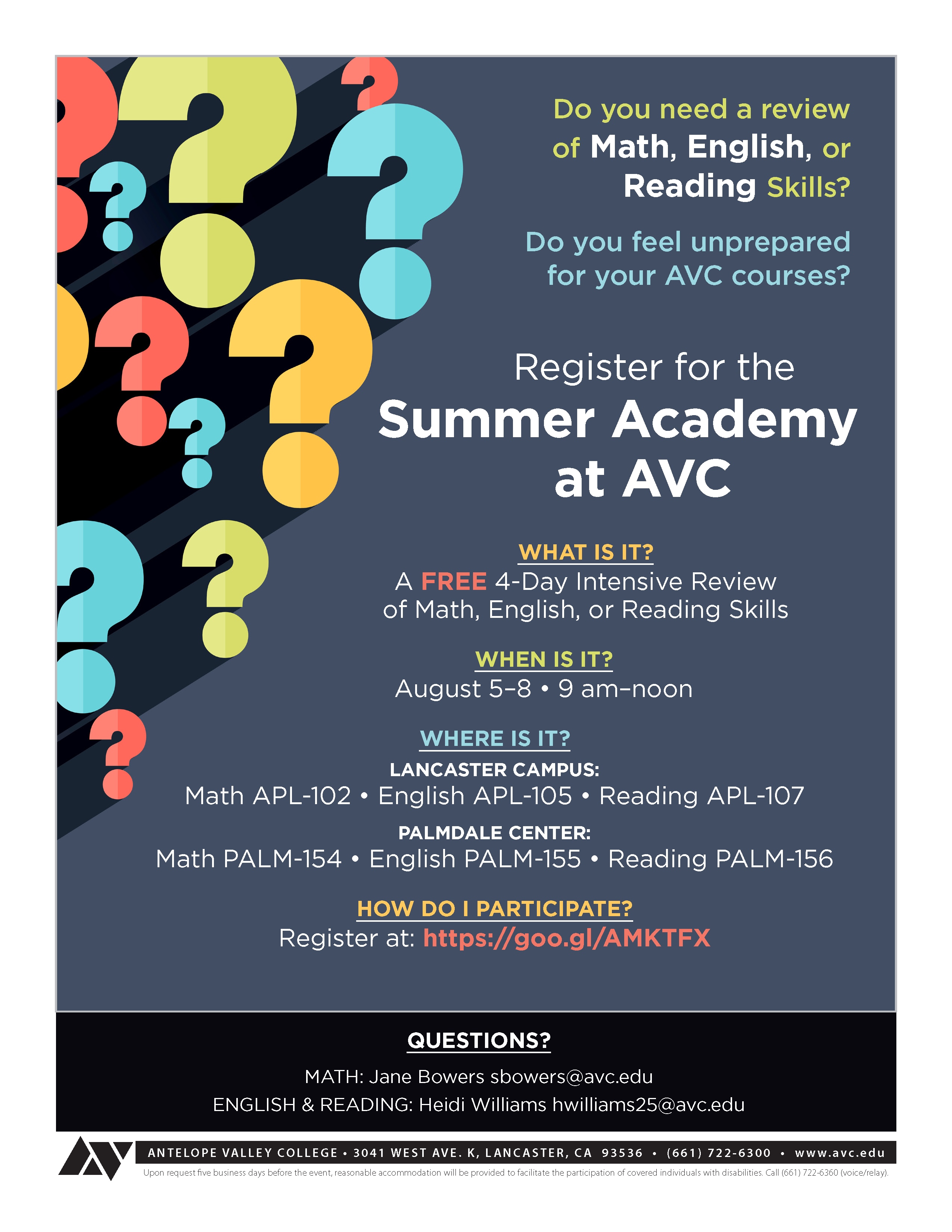 Summer Academy at AVC