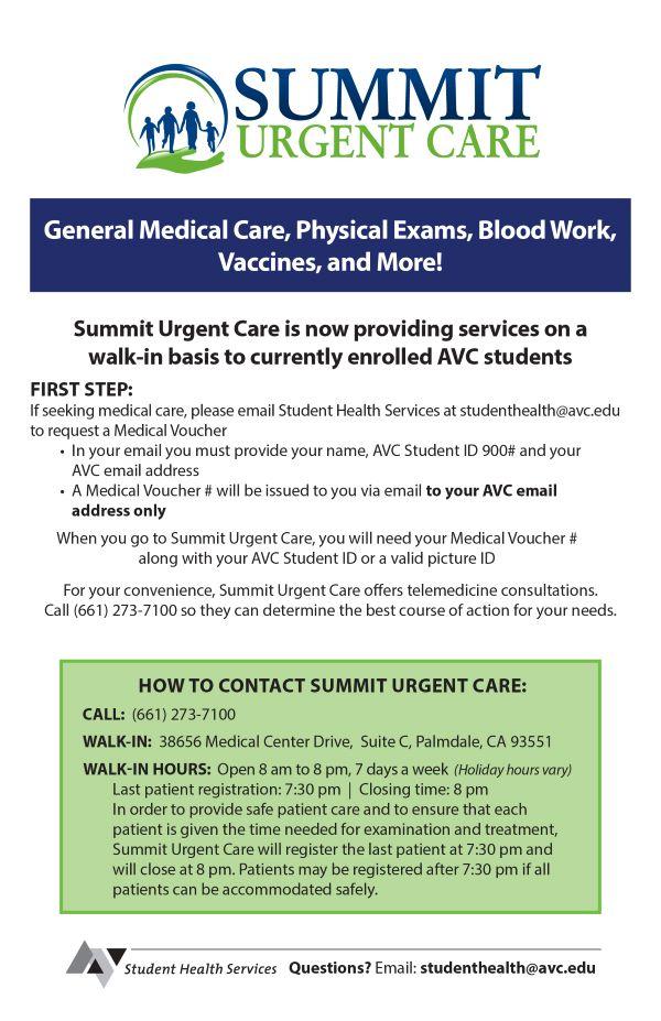 Summit Urgent Care Flyer