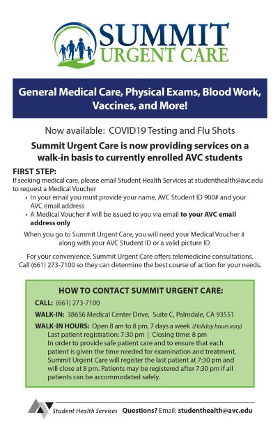 Summit Urgent Care Flyer
