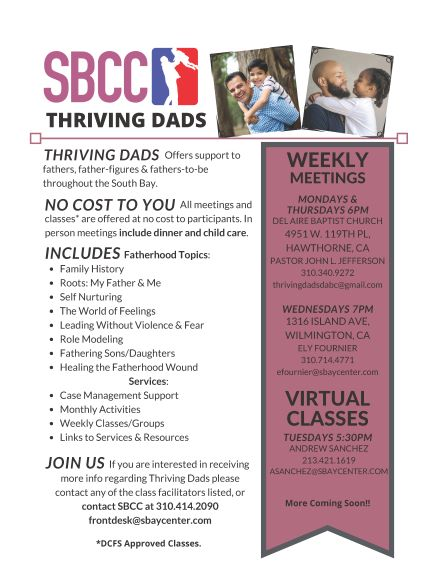 Thriving Dads Info Flyer