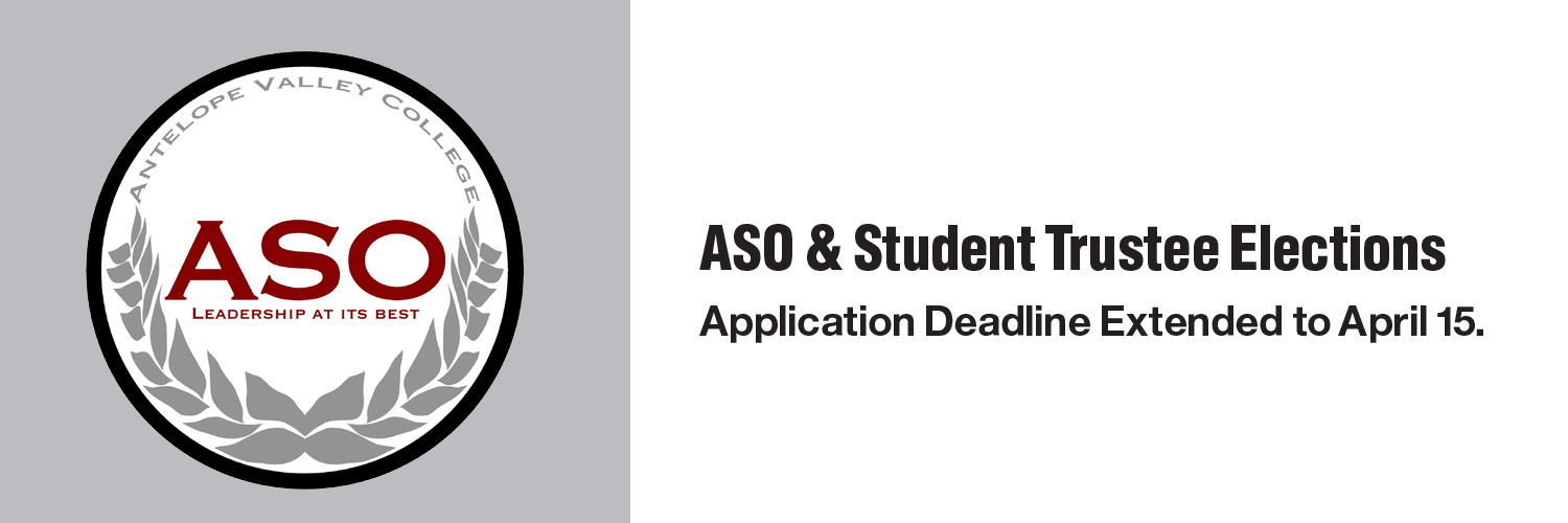 ASO & Student Trustee Elections - Application Date Extended to April 15