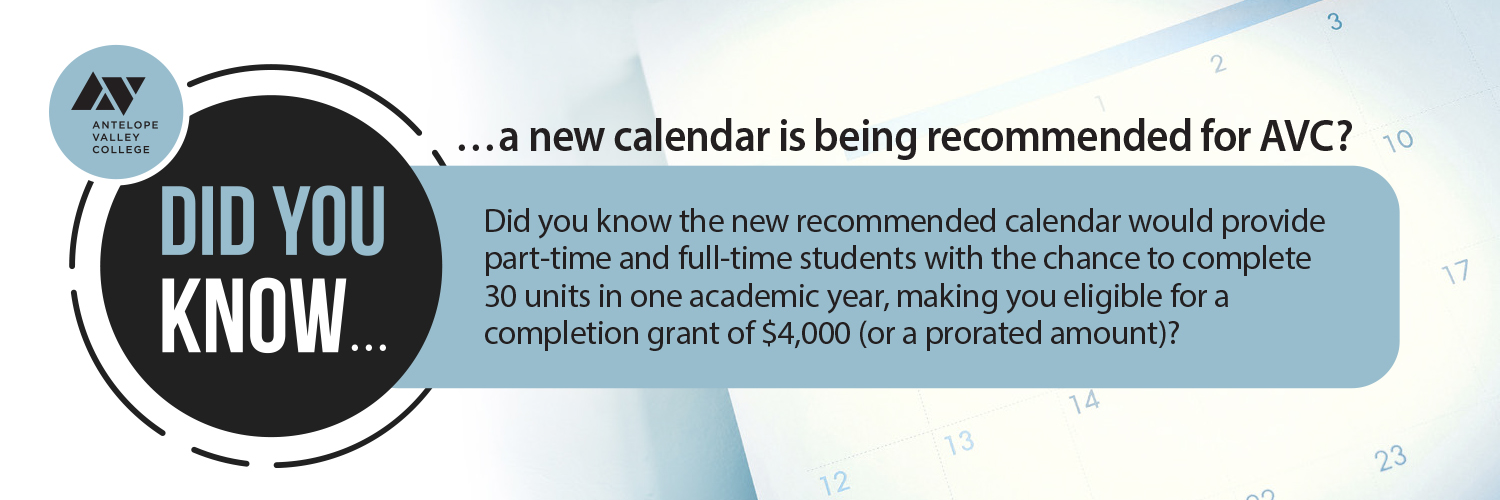 A new calendar is being recommended for AVC
