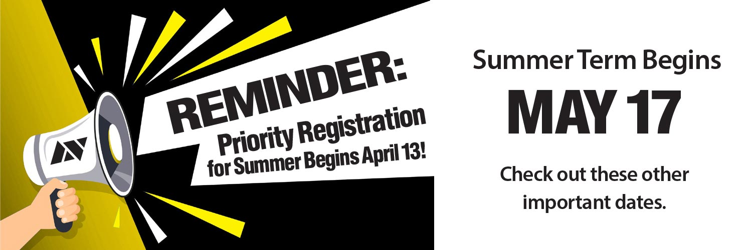 Reminder: Priority Registration For Summer Begins April 13